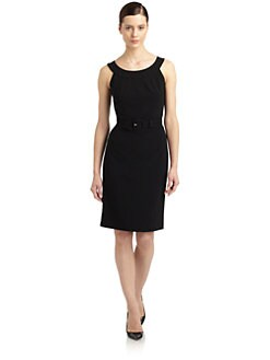 St. John - Belted Sheath Dress