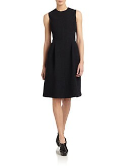 Calvin Klein Collection - Boucle & Leather Dress