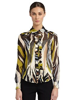 Moschino Cheap And Chic - Silk Chiffon Printed Blouse