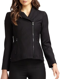 Moschino Cheap And Chic - Zipper-Detailed Wool Biker Jacket