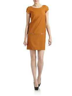 Moschino Cheap And Chic - Zip-Pocket Wool Dress