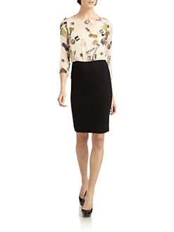 Moschino Cheap And Chic - Cosmetic-Printed Blouson Dress