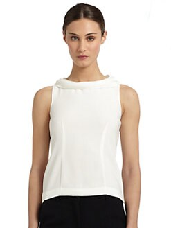 Moschino Cheap And Chic - Crepe Draped-Neck Top