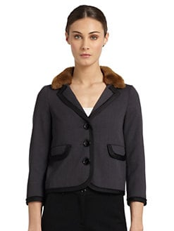 Moschino Cheap And Chic - Faux Fur Accented Jacket