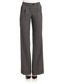 Moschino Cheap And Chic - Pleated Wide-Leg Trousers