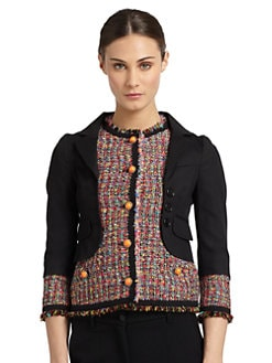 Moschino Cheap And Chic - Mixed Media Jacket