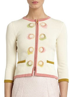 Moschino Cheap And Chic - Button-Print Cardigan
