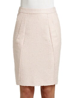 Moschino - Seamed Boucle Pencil Skirt