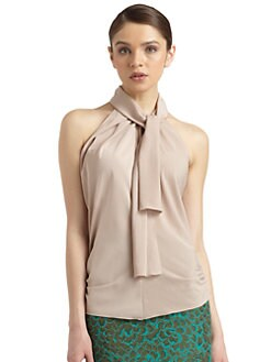 Philosophy di Alberta Ferretti - Tie-Front Ruched Blouse