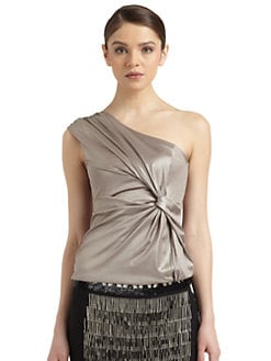 Philosophy di Alberta Ferretti - Satin One-Shoulder Blouse