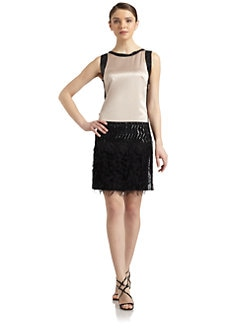 Philosophy di Alberta Ferretti - Art Deco Sleeveless Shift Dress