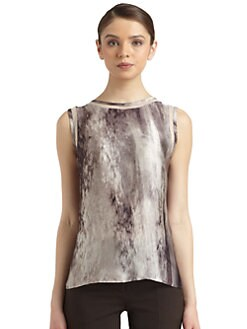Philosophy di Alberta Ferretti - Sheer Panel Sleeveless Blouse
