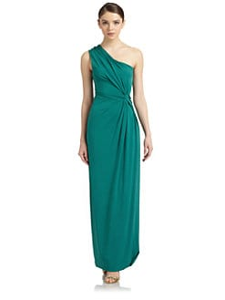 Philosophy di Alberta Ferretti - Draped One-Shoulder Gown