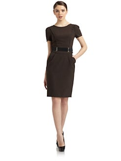 Philosophy di Alberta Ferretti - Belted Short Sleeve Dress