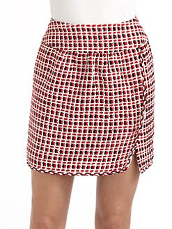 Moschino - Textured Checked Skirt