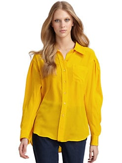 Moschino - Silk Button-Down Blouse