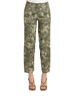 Moschino - Embroidered Floral Pants
