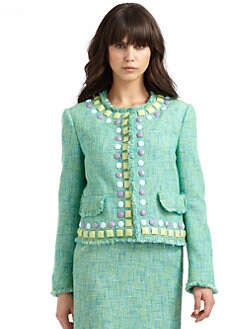 Moschino Cheap And Chic - Beaded Tweed Jacket