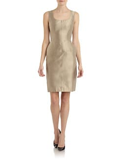 Dolce & Gabbana - Silk Scoopneck Sheath Dress
