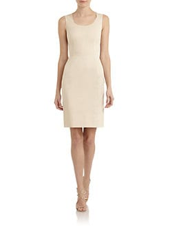 Dolce & Gabbana - Stretch Cotton Scoopneck Sheath Dress
