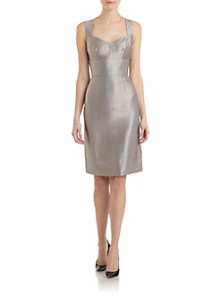 Dolce & Gabbana - Sweetheart Textured Sheath Dress