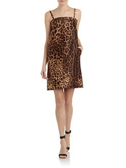 Dolce & Gabbana - Leopard-Print Silk Shift Dress