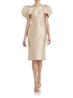 Dolce & Gabbana - Silk Round-Shoulder Sheath Dress