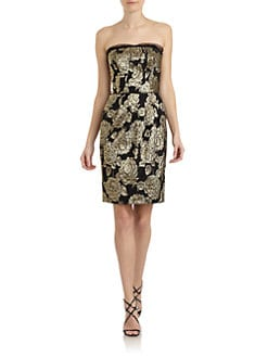 Dolce & Gabbana - Metallic Jacquard Strapless Dress