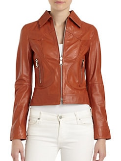 Dolce & Gabbana - Short Leather Jacket