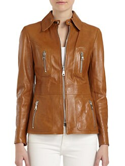Dolce & Gabbana - Long Leather Jacket