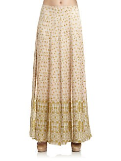 Veronica Beard - Silk Mixed-Pattern Maxi Skirt