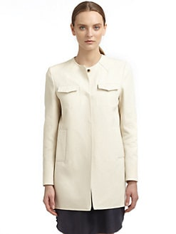 Costume National - Twill Flap Pocket Coat