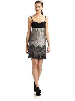 Costume National - Wool & Sequin Dress