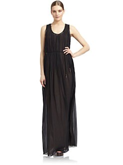 Costume National - Silk Crinkle Maxi Dress