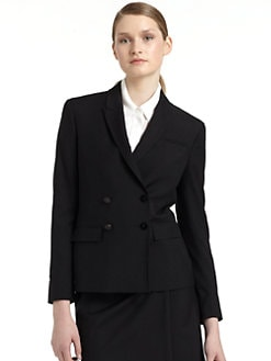 Costume National - Wool & Silk Double-Breasted Blazer