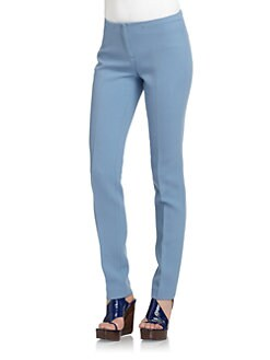Costume National - Wool Slim-Leg Trousers/Blue