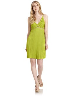 Roberto Cavalli - Pleated Knit Dress/Green