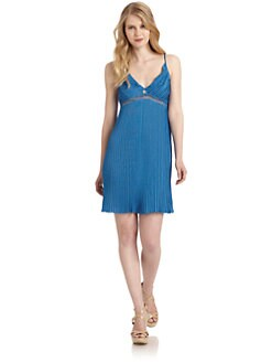 Roberto Cavalli - Pleated Knit Dress/Blue