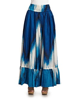 Roberto Cavalli - Silk Abstract Maxi Skirt