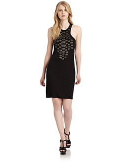 Roberto Cavalli - Chain Appliqé Racerback Dress