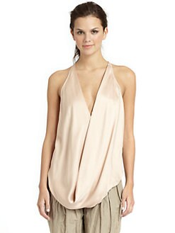 KaufmanFranco - Silk Draped Racerback Tank/Peach