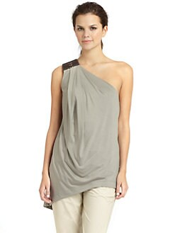 KaufmanFranco - Draped One-Shoulder Top