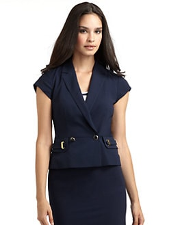Philosophy di Alberta Ferretti - Cady Double-Breasted Button Front Blazer