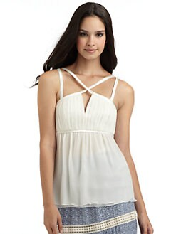 Philosophy di Alberta Ferretti - Chiffon Keyhole Top