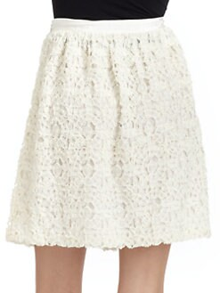 Moschino Cheap And Chic - Voile Lace Skirt
