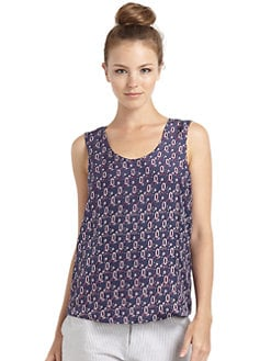 Veronica Beard - Silk Satin India Paisley Tank Top