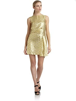 Philosophy di Alberta Ferretti - Gleaming Windowpane Sleeveless Dress