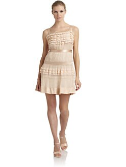 Philosophy di Alberta Ferretti - Lace Trim Silk Satin & Chiffon Dress