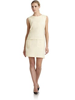Philosophy di Alberta Ferretti - Wool Gabardine Chemise Dress