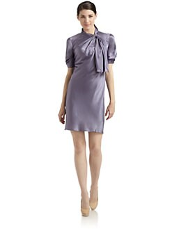 Philosophy di Alberta Ferretti - Tie-Neck Silk Dress